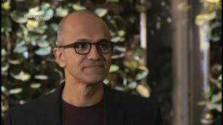 Satya Nadella: Microsoft Best Able to Change the World Video