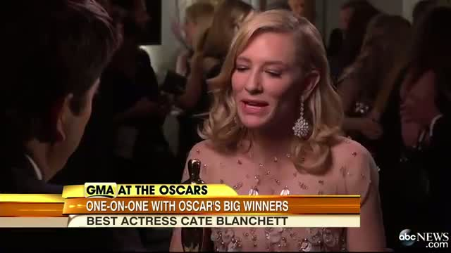 Best Actress Winner Cate Blanchett: 'You Never Expect This to Happen'