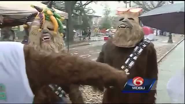 Wookies come from a galaxy far, far away to enjoy Mardi Gras