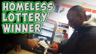 Man Gives Homeless Guy A 'Winning Lottery Ticket' - Homeless Lottery Winner
