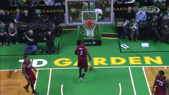 NBA: Rajon Rondo With The Flashy Assist to Jeff Green
