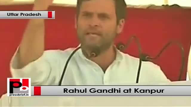 Rahul Gandhi's election rally at Kanpur (Uttar Pradesh)