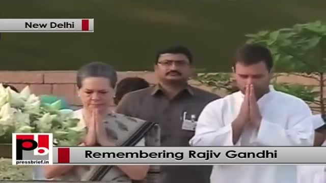 Sonia Gandhi, Rahul Gandhi, Priyanka Gandhi pay homage on Rajiv Gandhi's 23rd death anniversary