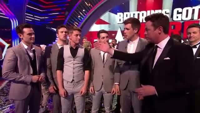 Britain's Got Talent winners Collabro's reaction - Britain's Got More Talent 2014 Final