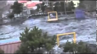 Unseen Japan Tsunami video Town Destroyed in Seconds