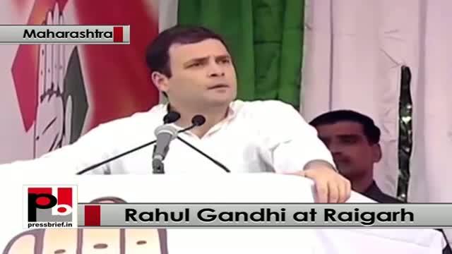 At Raigarh, Maharashtra, Rahul Gandhi launches blistering attack on Modi Govt