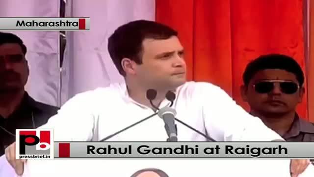 Rahul Gandhi addresses Congress poll rally at Raigarh in Maharashtra, attacks BJP and Centre