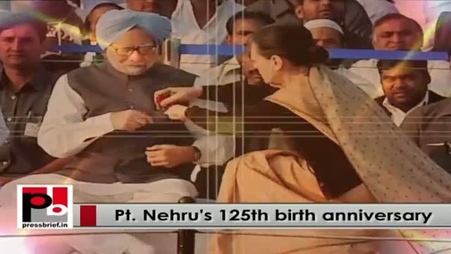 Nation remembers Pt Nehru on his 125th birth anniversary, Sonia Gandhi, Rahul pay homage