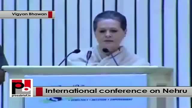 Sonia Gandhi: Pt. Nehru nurtured democracy like a mother nurtures her child
