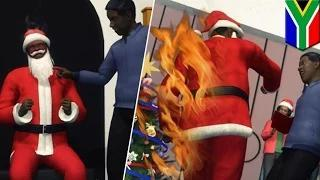 Bad Santa: Mall Santa fired after attacking and punching former father-in-law video