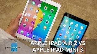 Apple iPad Air 2 vs Apple iPad mini 3 Video