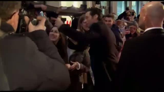 Hugh Jackman Meets 'Chappie' Fans in Berlin