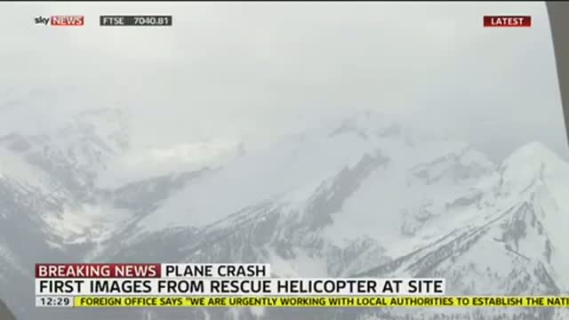Alps Plane Crash: First Picture From Rescue Helicopter