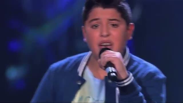 """Redouan - Nobody's Perfect (The Voice Kids 2015: Sing Off)Redouan zingt tijdens zijn Sing Off het nummer """"Nobody's Perfect"""" van Jessie J."""