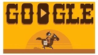 When was the first mail delivered via the pony express - Google Doodle
