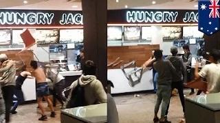 Fast food brawl: wild teenage brawl erupts at Perth Hungry Jack's