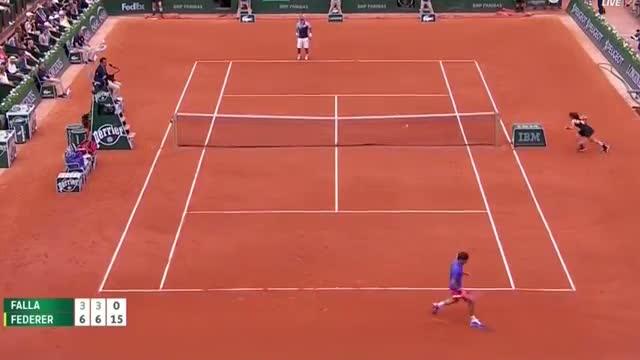 Roger Federer vs Alejandro Falla - Tennis Highlights Roland Garros 2015 HD