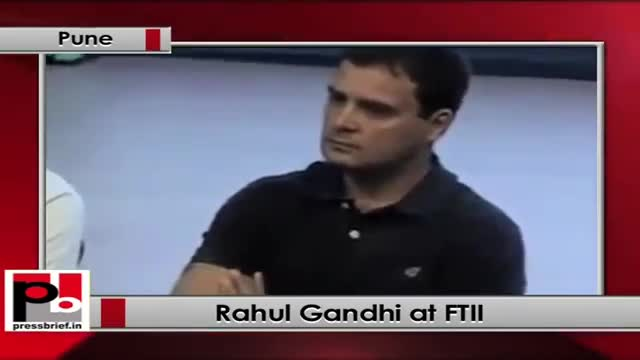 Rahul Gandhi visits FTII, interacts with protesting students