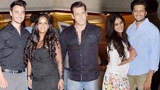Salman Khan, Arpita Khan, Sohail Khan, Karisma Kapoor, Zayed Khan At Sunny Dewan's Party