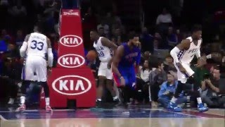 NBA: Andre Drummond Soars Over Sixers for the Put-Back Jam