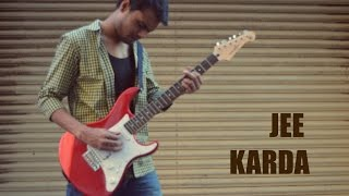 Jee Karda Guitar Cover | Badlapur | Subodh Thakar | Electric Guitar | Android Drums App