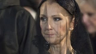 Celine Dion Attends Service for Her Late Husband