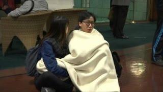 Japan Earthquake - Masses Seek Refuge After 7.0-Magnitude Quake