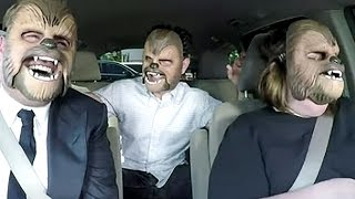 Chewbacca Mom Can't Stop Laughing With James Corden & J.J. Abrams