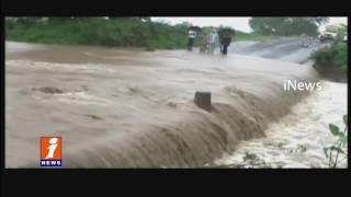 Heavy Rains in Adilabad Gaddena Vagu Protect Overflow with Rain water | iNews