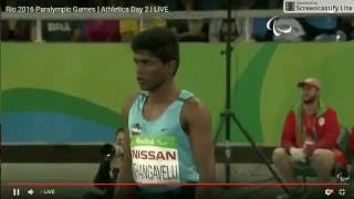 Mariyappan Thangavelu's gold medal jump in Men's T42 High Jump final - Rio 2016 Paralympics