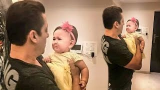 Salman Khan With A CUTE Crying Baby At Galaxy Apartment - CUTEST Moment Ever