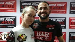 Valmyr Neto & Liz Pereira on how they feel as they watch their partner enter the cage
