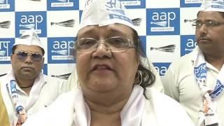 Congress Leader Razia Sultana and AIMIM Leader Shoaib Khan Joins AAP