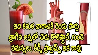 How to Prevent Heart problems,cholesterol problems and Kidney problems Naturally by using this juice