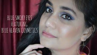 Blue Smokey Eyes - One Brand Makeup Ft. Blue Heaven Cosmetics | Nidhi Katiyar