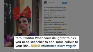 Hilarious | Farhan in red Lipstick and a red bow on head