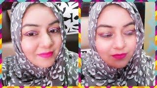Eid Makeup Tutorial (Easy) | Pink winger liner with black outline & Pink Matte Lips  JSuper Kaur