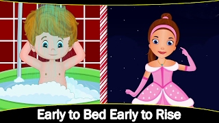 Early to bed early to rise | Cartoon/Animatd Rhymes for Kids | English Rhyme | StoryAtoZ.com