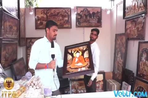 Wooden Painting in Karnataka at 37th India International Trade Fair 2017