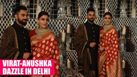 WATCH: Virat and Anushka make for a gorgeous couple at their Delhi reception