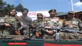 Watch Video Militant Hideout Busted By Army In Handwara.
