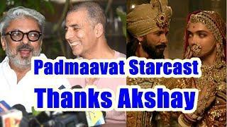 Shahid Ranveer And Deepika Thanks Akshay Kumar For Padman Delay