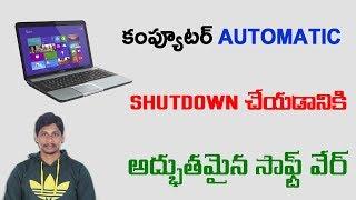 How to Schedule Automatic Shutdown in Windows    Telugu Tech Tuts