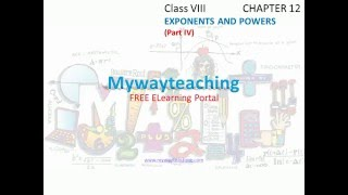 Math Class 8 Chapter 12 Part IV|Exponents and power| Exponents and power for class 8|