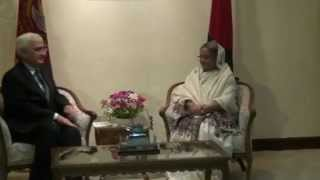 External Affairs Minister meets Prime Minister of Bangladesh in Dhaka