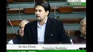Central Universities (Amendment) Bill, 2009: Sh. Anurag Singh Thakur: 30.11.2009/01.12.2009