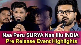 Naa Peru Surya Naa Illu India Movie Pre Release Event Highlights | Naa Peru Surya Movie 2018