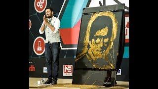 Amitabh Bachan Glue Glitter portrait performance on his birthday at Allahabad