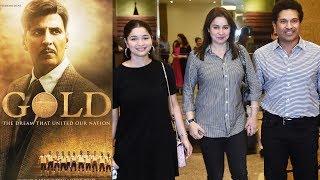 Sachin Tendulkar With Family Watches Akshay Kumar's GOLD On EID | Anjali Tendulkar, Sara Tendulkar
