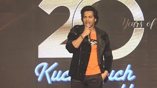 Varun Dhawan At 20 Years Of Kuch Kuch Hota Hai Grand Celebration | Shahrukh, Kajol, Rani